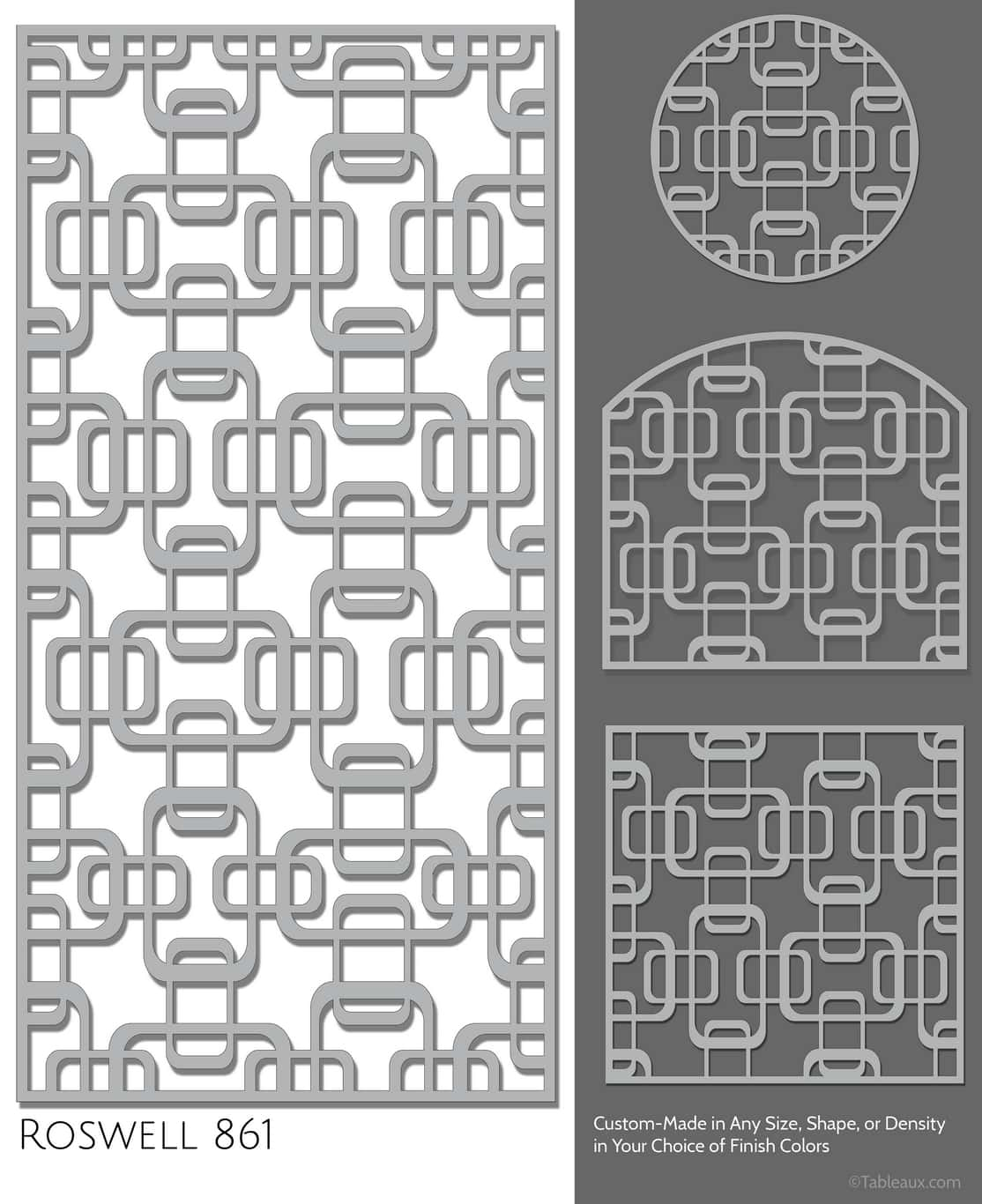 """Tableaux Decorative Grilles Design Pattern """"Roswell"""""""