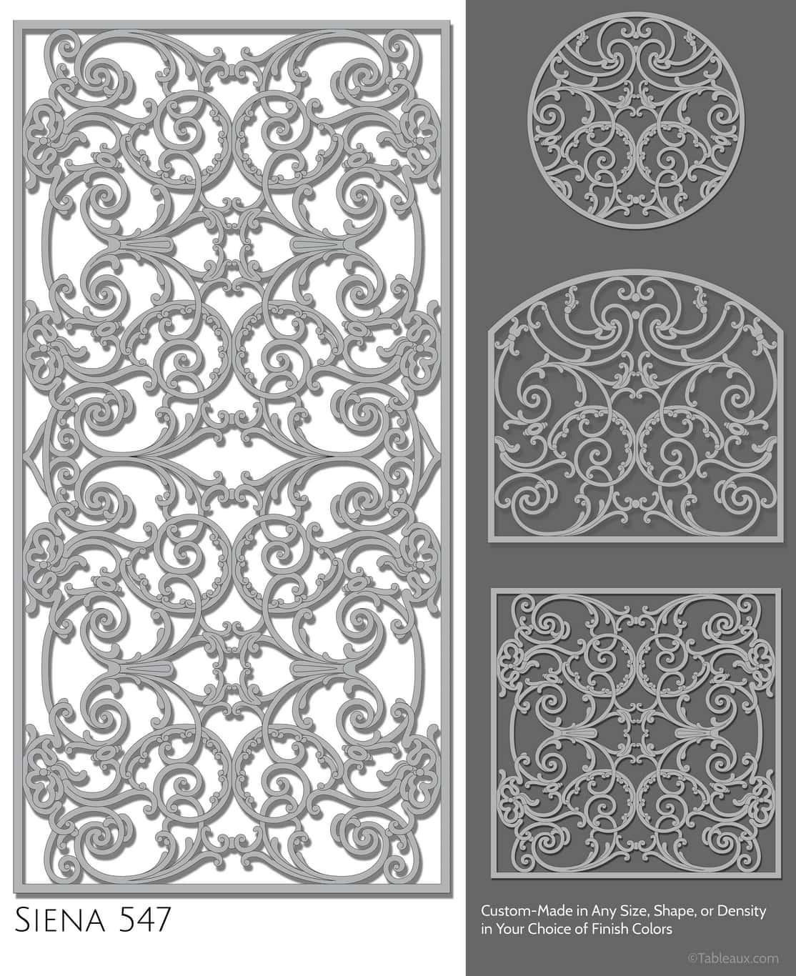 """Tableaux Decorative Grilles Design Pattern """"Siena"""""""