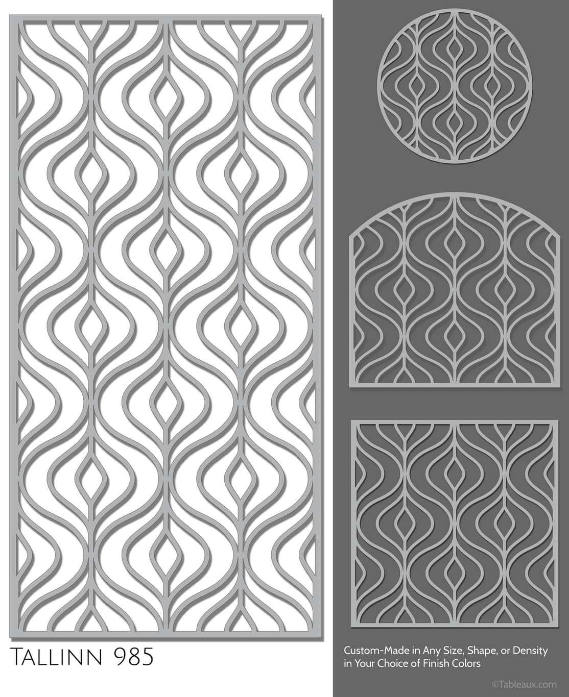 "Tableaux Decorative Grilles Design Pattern ""Tallinn"""
