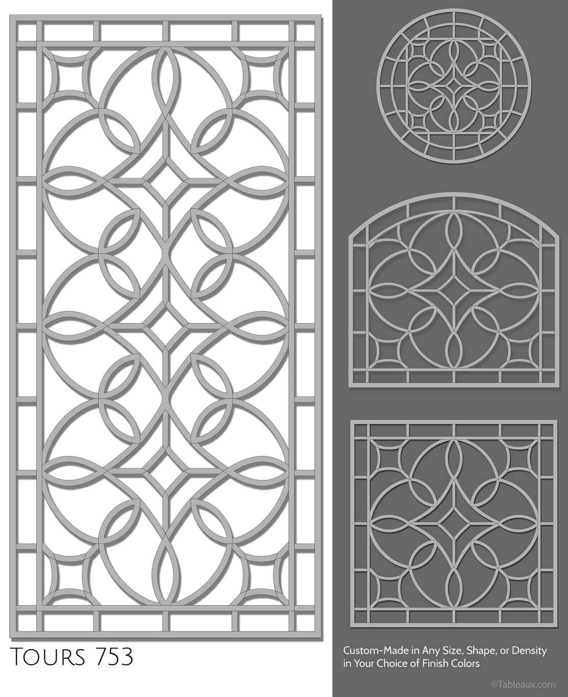 """Tableaux Decorative Grilles Design Pattern """"Tours"""""""