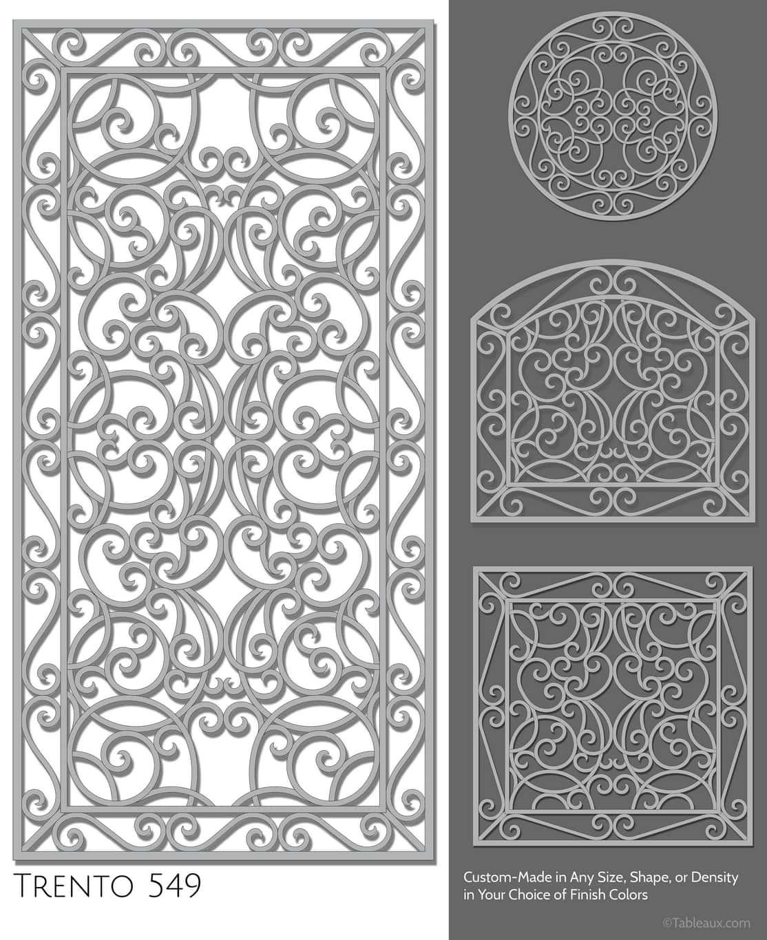 """Tableaux Decorative Grilles Design Pattern """"Trento"""""""