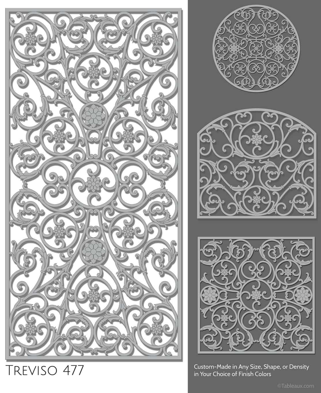 """Tableaux Decorative Grilles Design Pattern """"Treviso"""""""