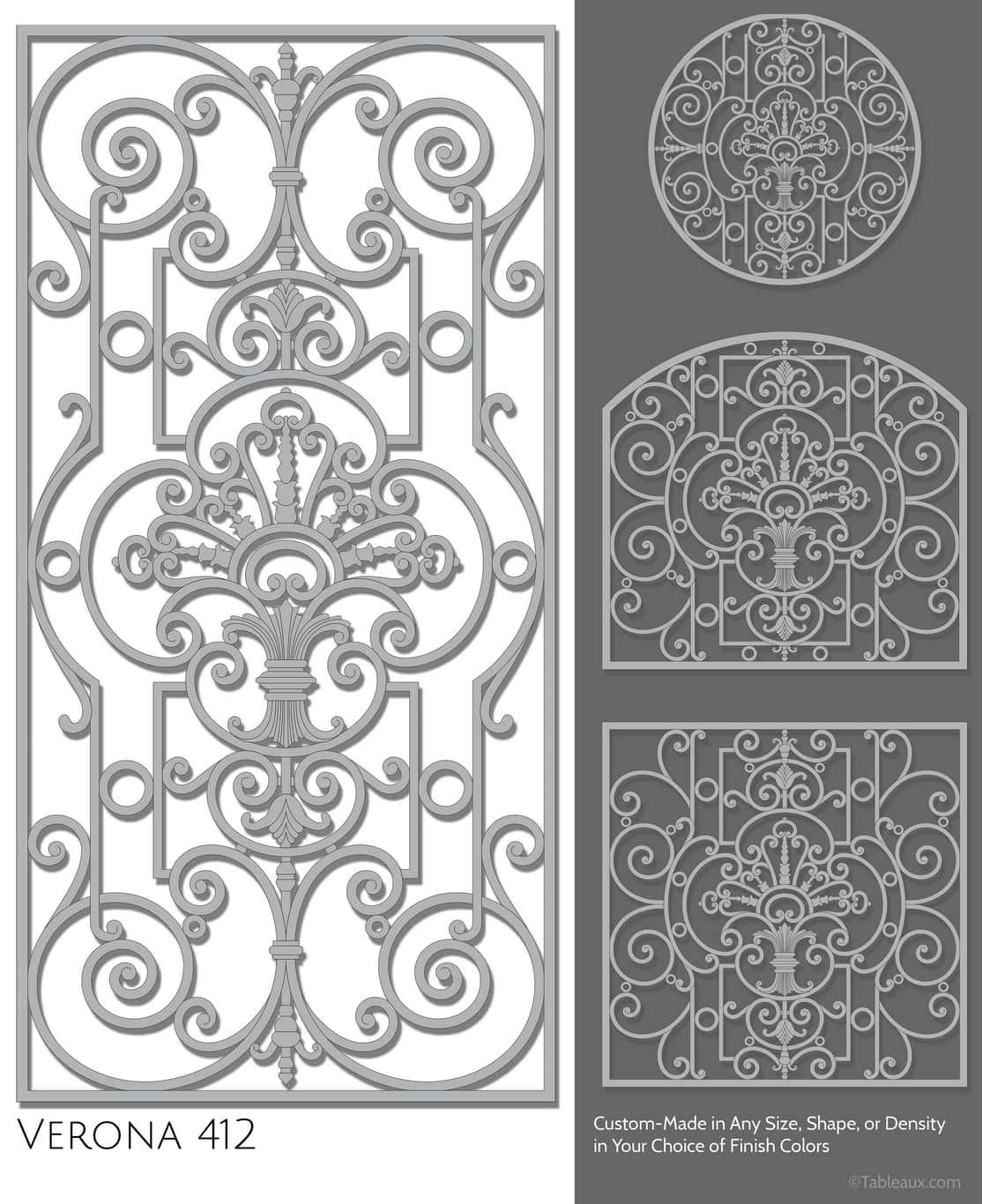 """Tableaux Decorative Grilles Design Pattern """"Verona"""""""