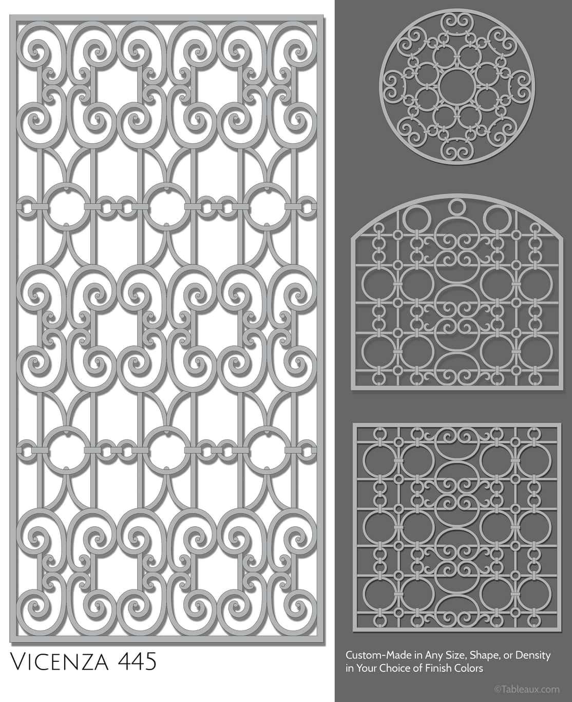 """Tableaux Decorative Grilles Design Pattern """"Vicenza"""""""