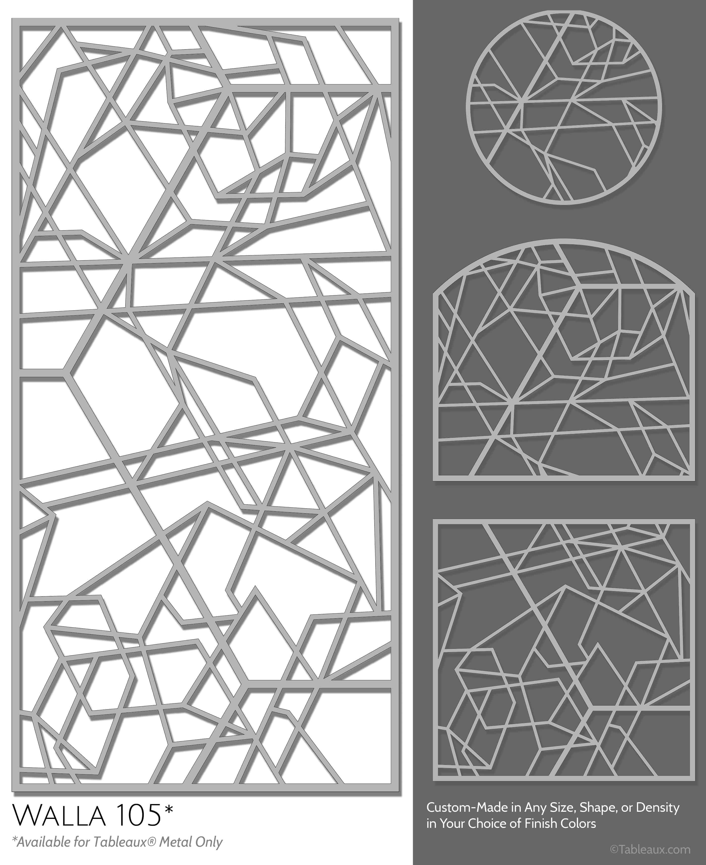 """Tableaux Decorative Grilles Design Pattern """"Walla"""""""