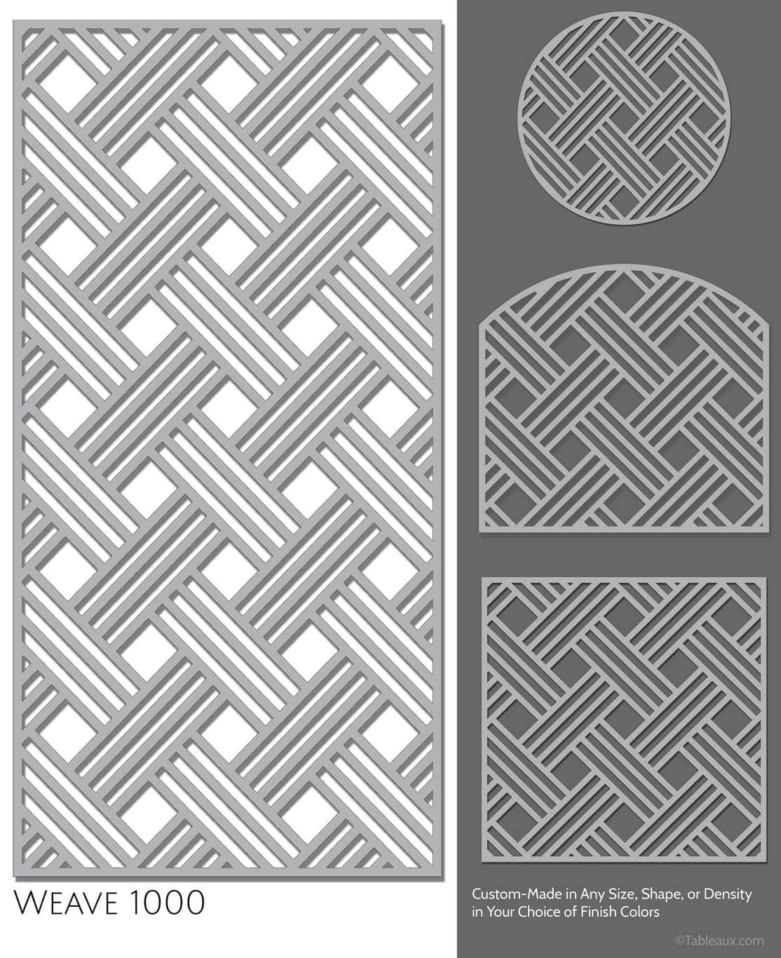 """Tableaux Decorative Grilles Design Pattern """"Weave"""""""