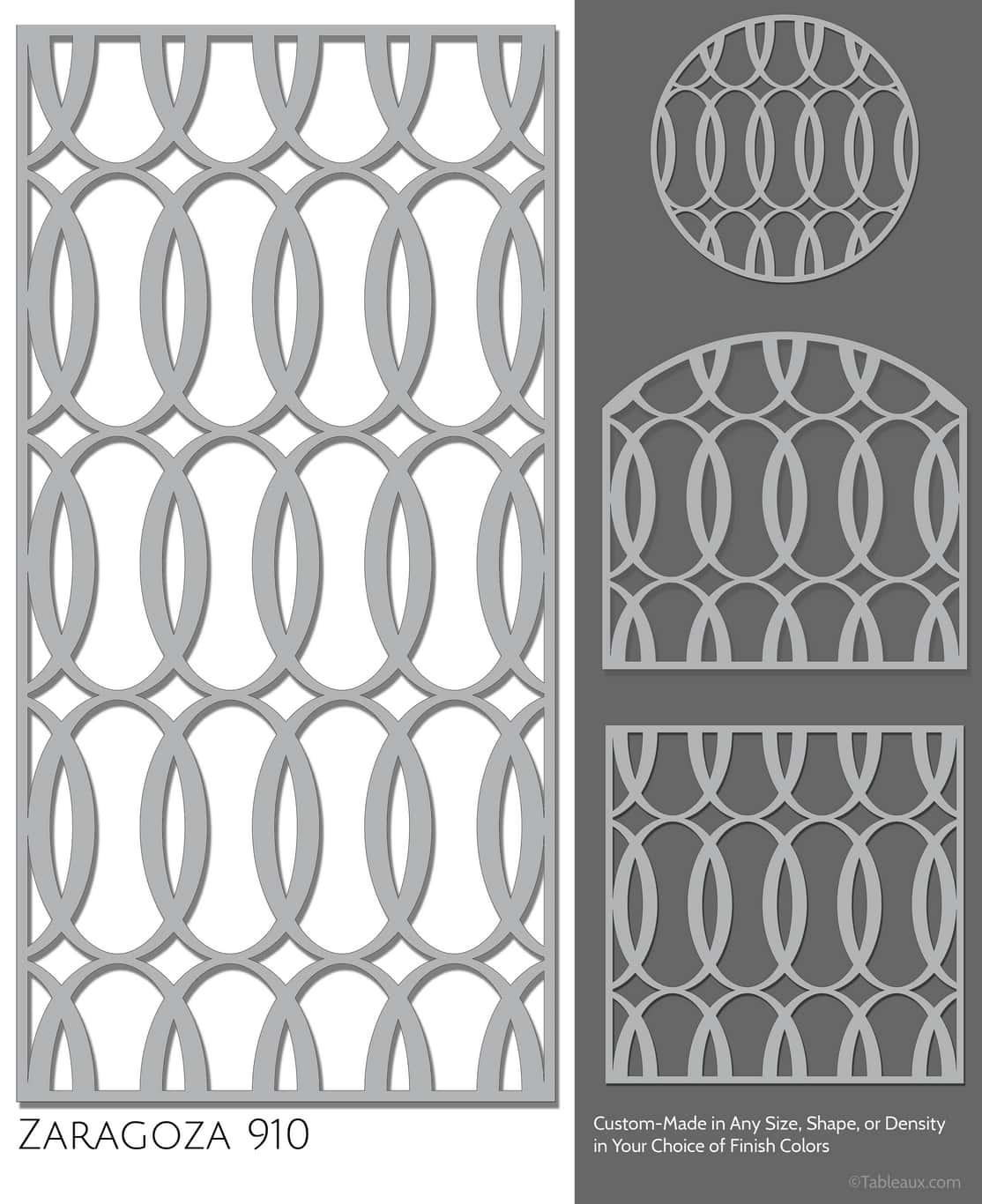 "Tableaux Decorative Grilles Design Pattern ""Zaragoza"""