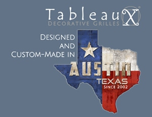 Tableaux decorative grille, designed & custom-made in Austin, Texas