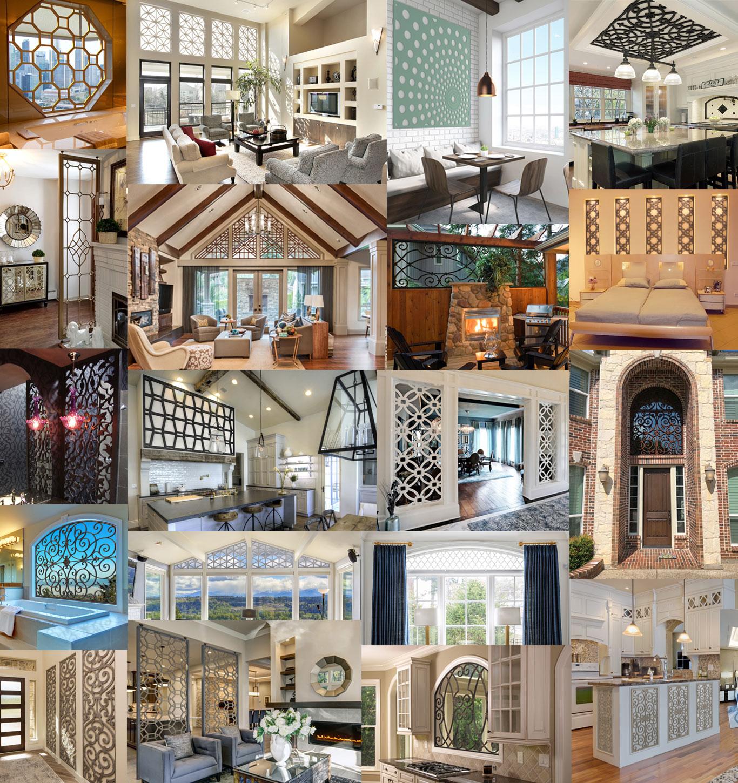 Tableaux Decorative Grilles used multiple home décor applications